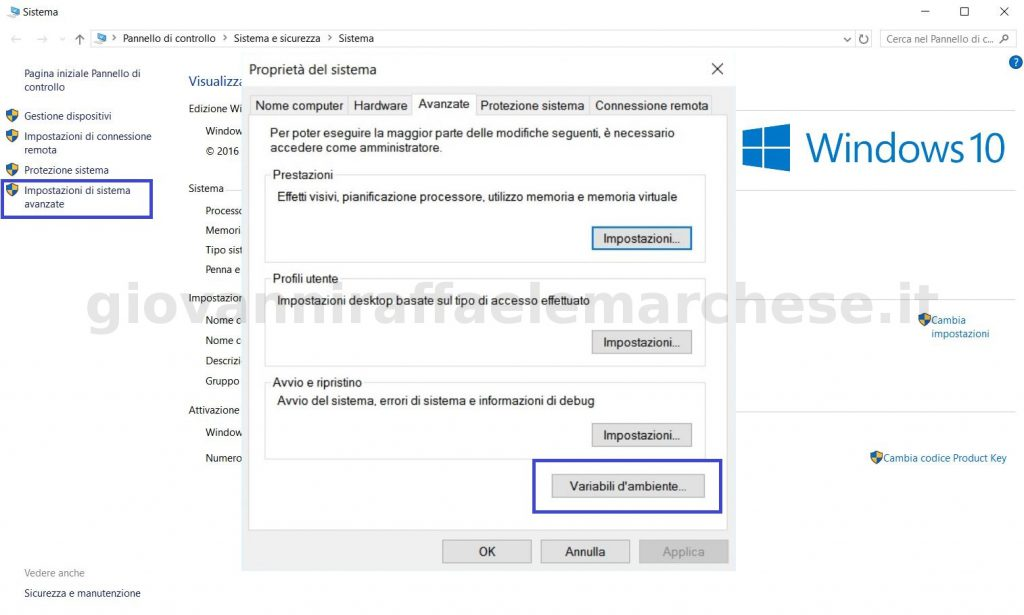 come installare java e configurare jdk su windows 10