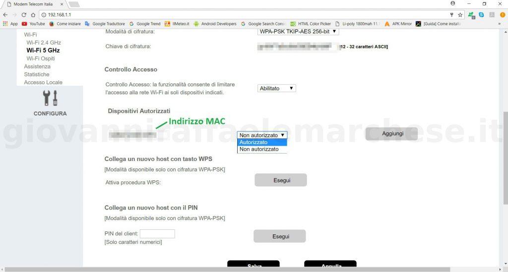 Come proteggere la rete wifi con il MAC