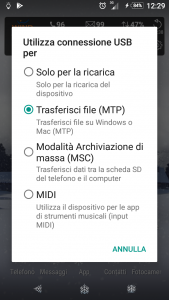 Come collegare lo smartphone android al pc