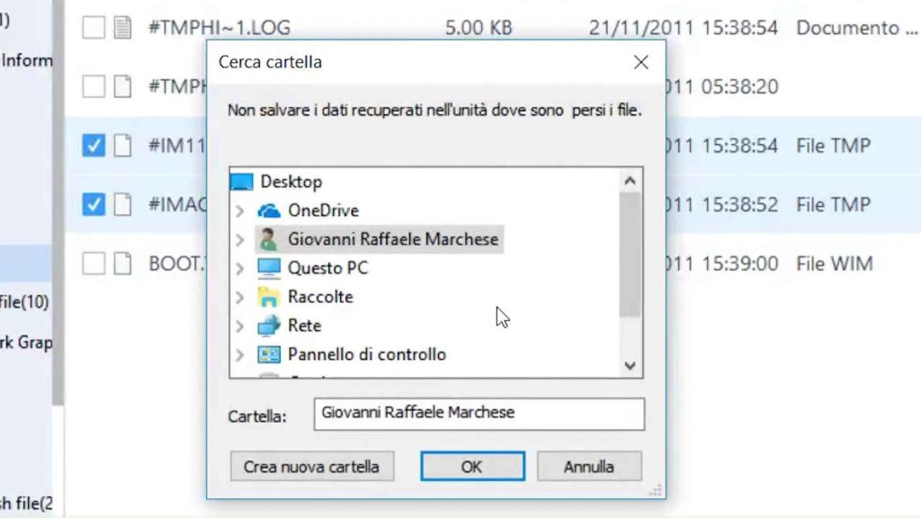 Come recuperare files cancellati